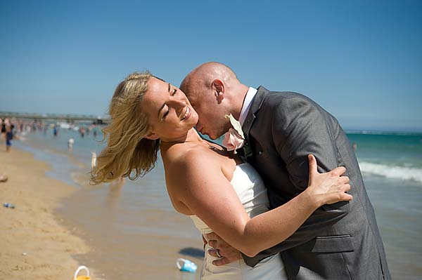 "alt=""bournemouth beach wedding photo"""