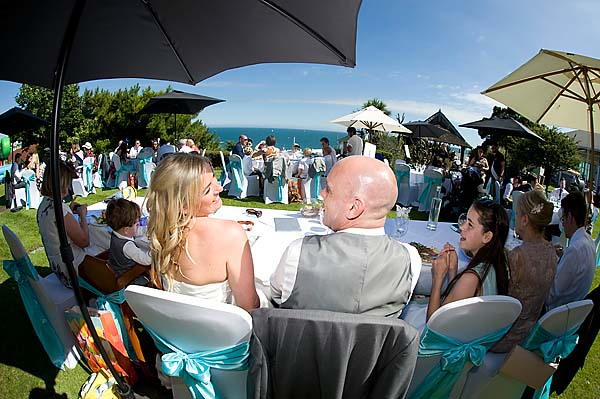 "alt=""highcliff marriott bournemouth wedding photo"""
