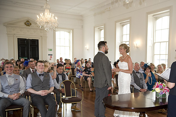 "alt=""wedding ceremony photo Guildhall Poole"""