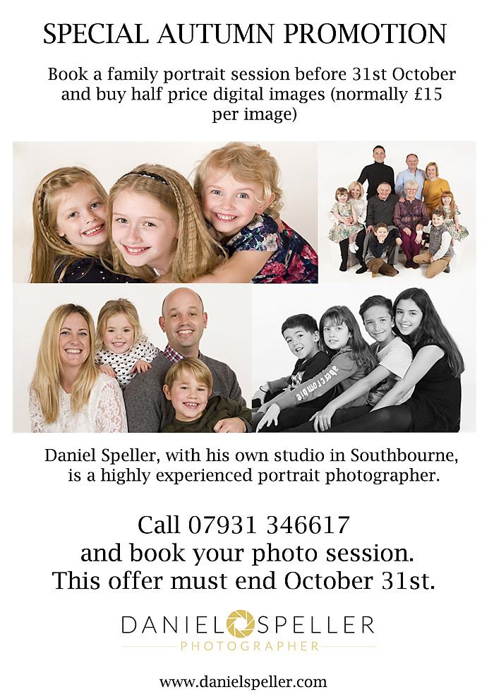 Portrait photography promotion bournemouth