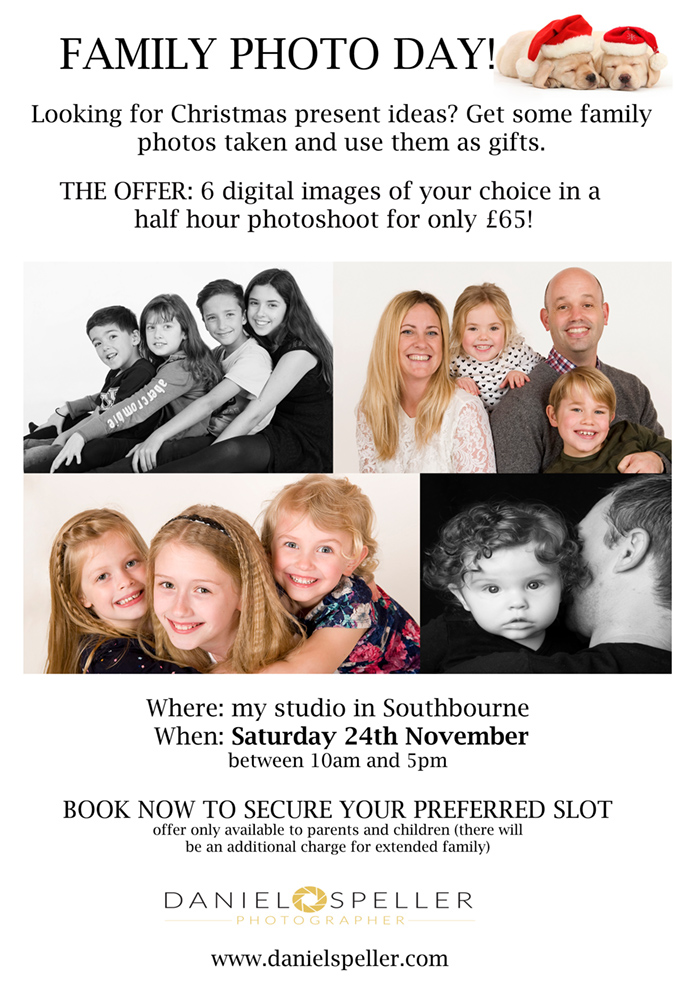 christmas portrait offer Bournemouth