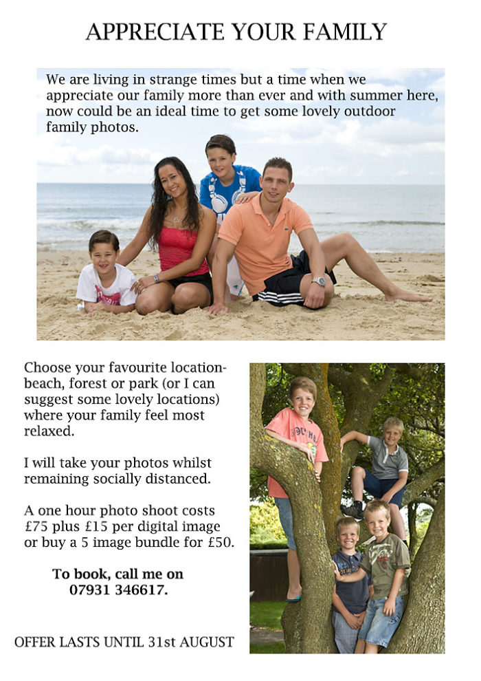 outdoor family portraits promotion bournemouth